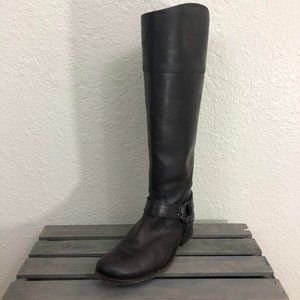 Frye Harness Riding Boots Sz 8B Brown Leather